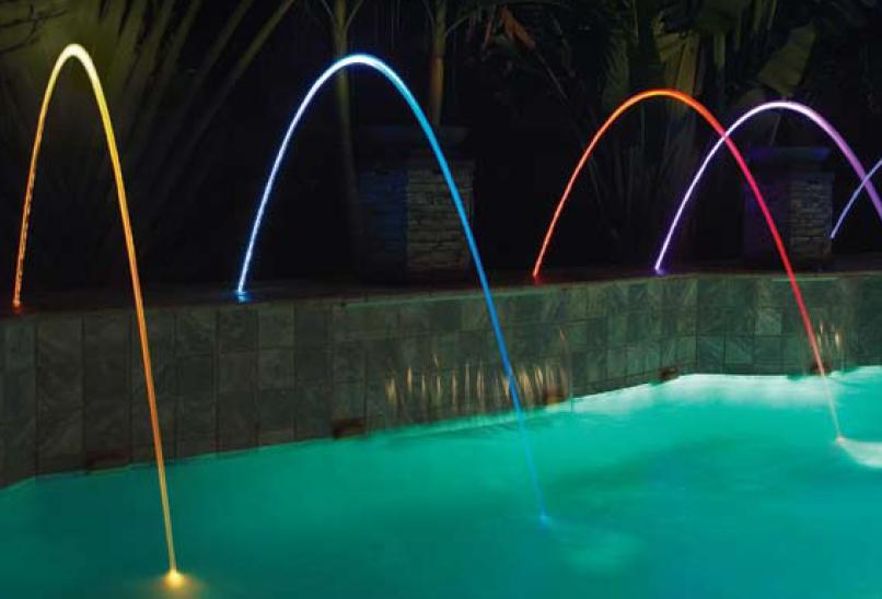 Magic Stream of water in pool